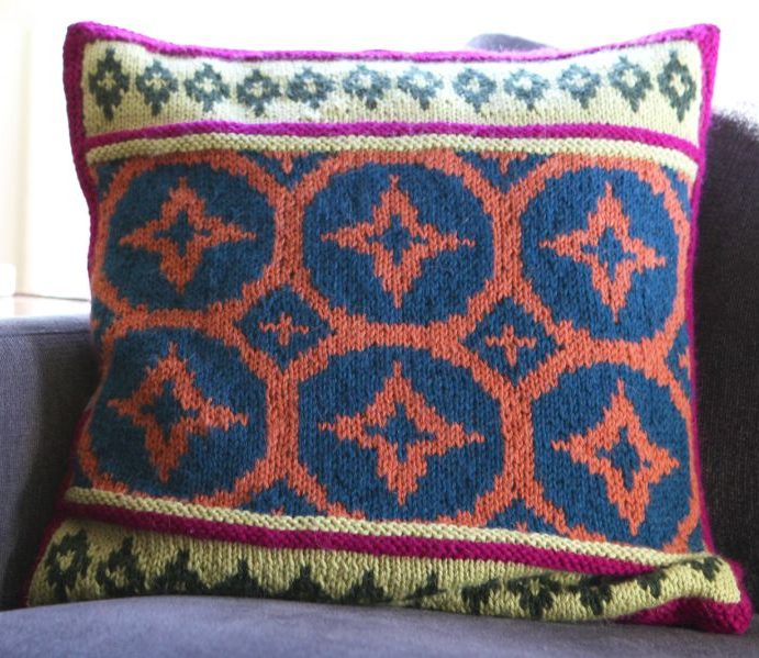 Free Knitting Pattern and Class for Steeked Fair Isle Pillow