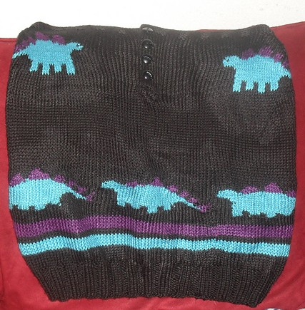 Free knitting pattern for Stegosaurus Skirt dinosaur skirt