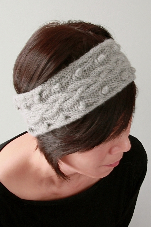 Free knitting pattern for Stephenie Ear Warmer