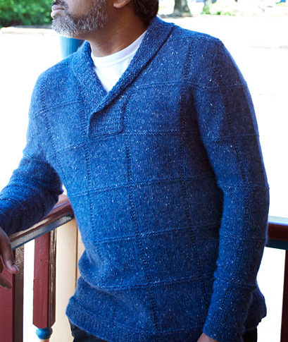 Free knitting pattern for Sticky Note pullover sweater and more knitting patterns for ment
