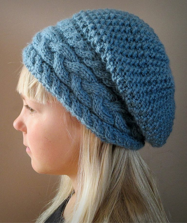 Knitting Pattern Stillness of Winter Beret