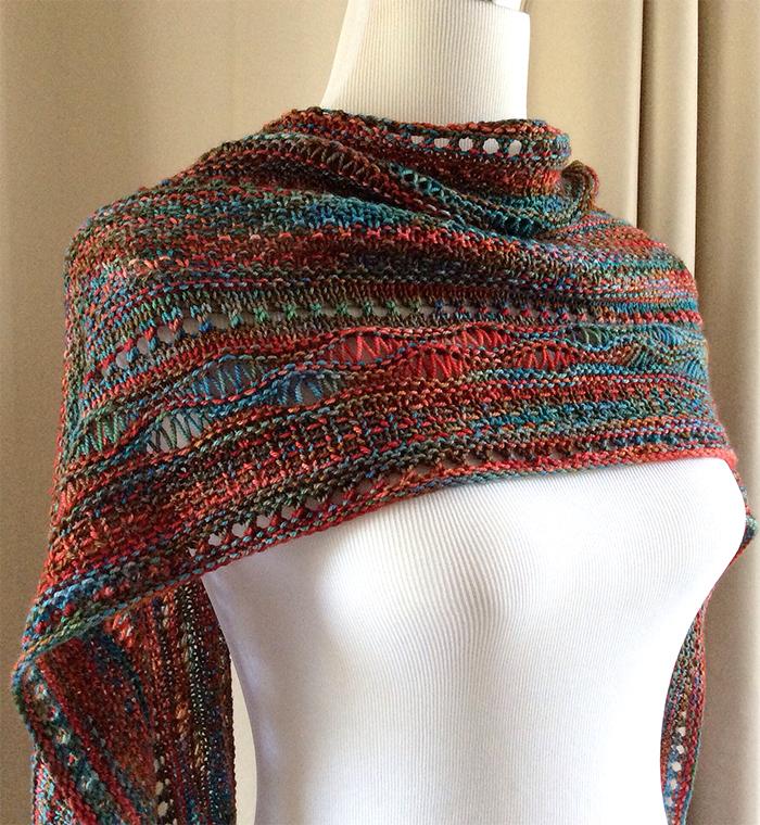 d3ebf1d7c Stitch Stripe Shawl Knitting Patterns - In the Loop Knitting