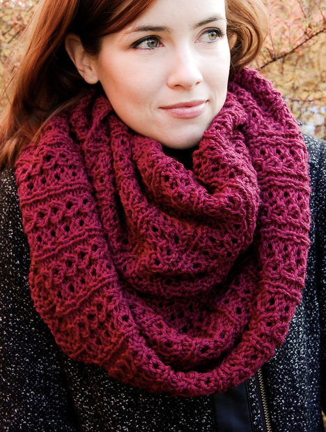 Free Knitting Pattern for Stockholm Infinity Scarf