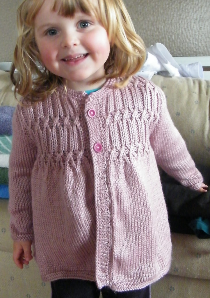 Free Knitting Pattern for Strawberry Hill Cardigan