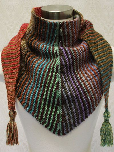 Free knitting pattern for Stripes and Short Rows Scarf