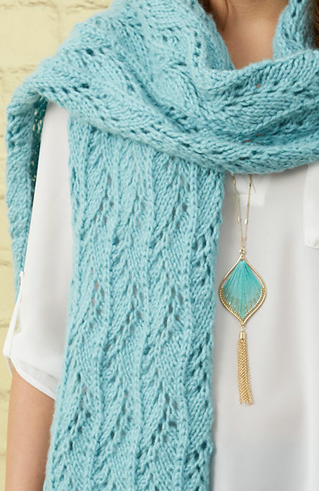 Free Knitting Pattern for Stunning Lace Scarf