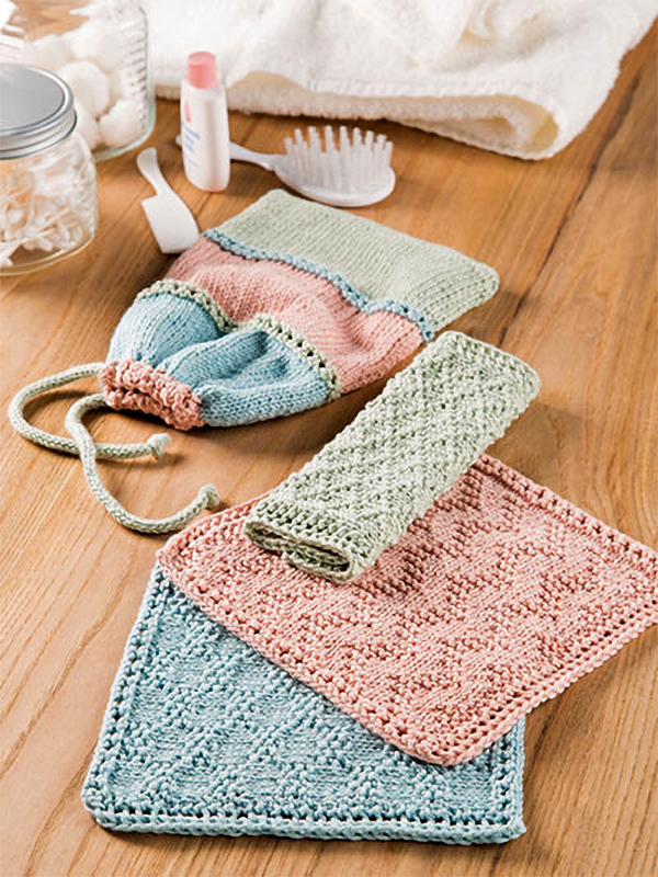 Knitting Pattern for Sublime Spa Set