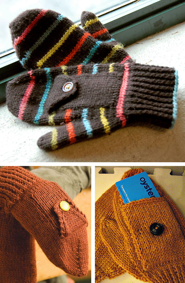 Knitting Pattern for Easy Subway Mittens