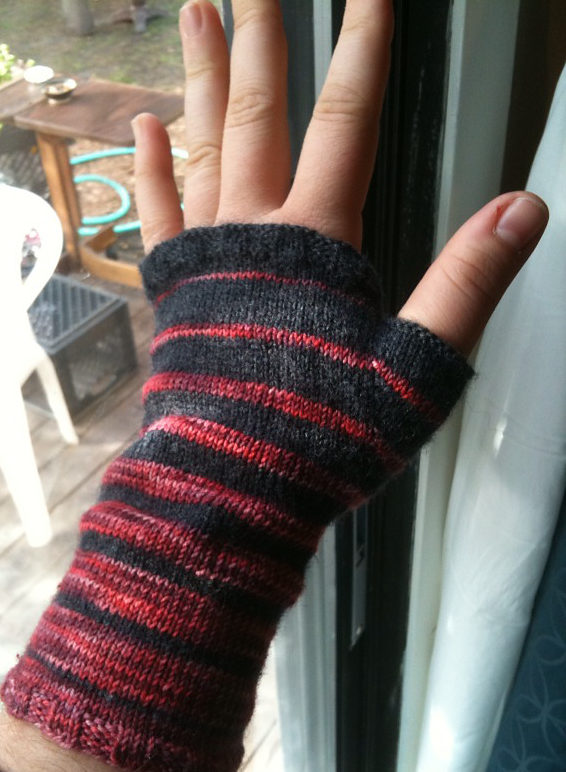 Free Knitting Pattern for Summation of i Mitts