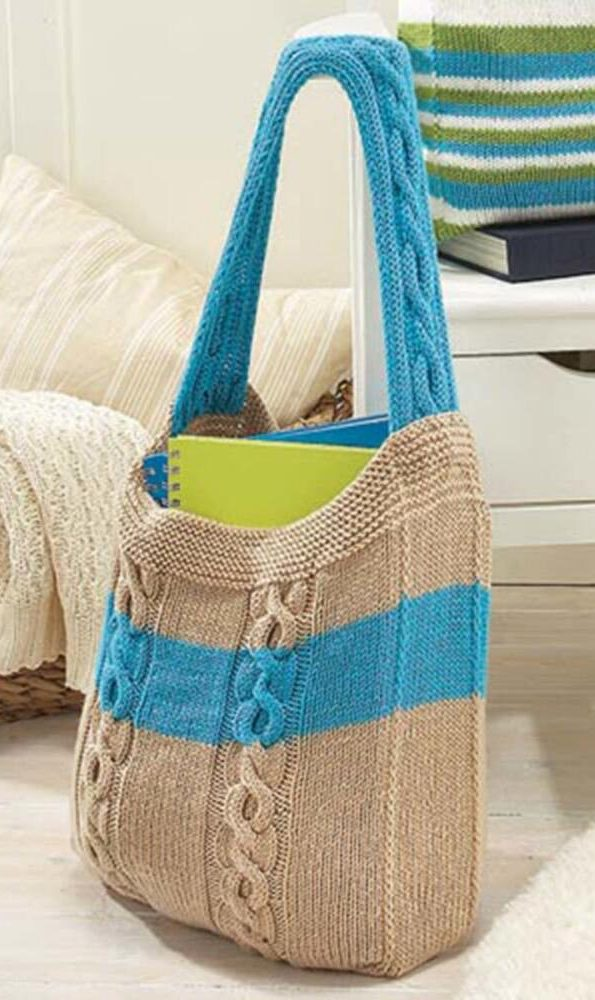 Free Knitting Pattern for Cable Bag