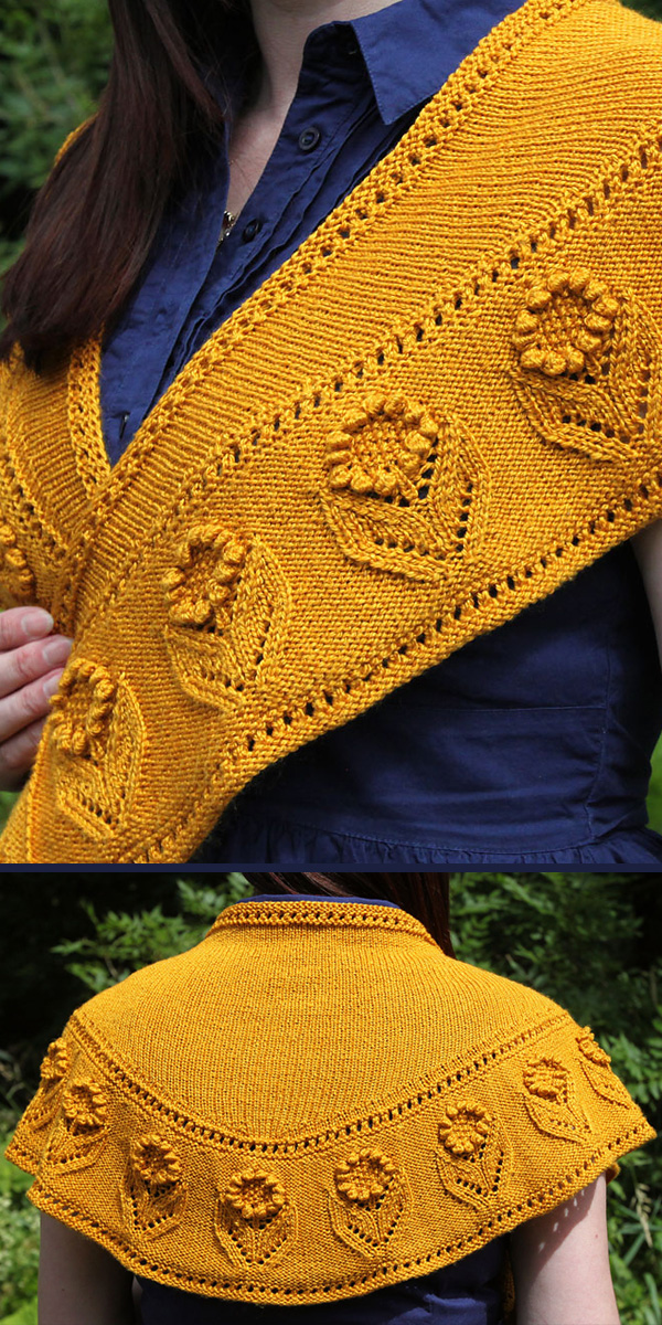 Knitting Pattern for Summer Blooms Shawl