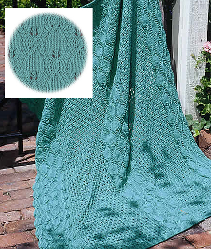 Free Knitting Pattern for Summer Garden Throw