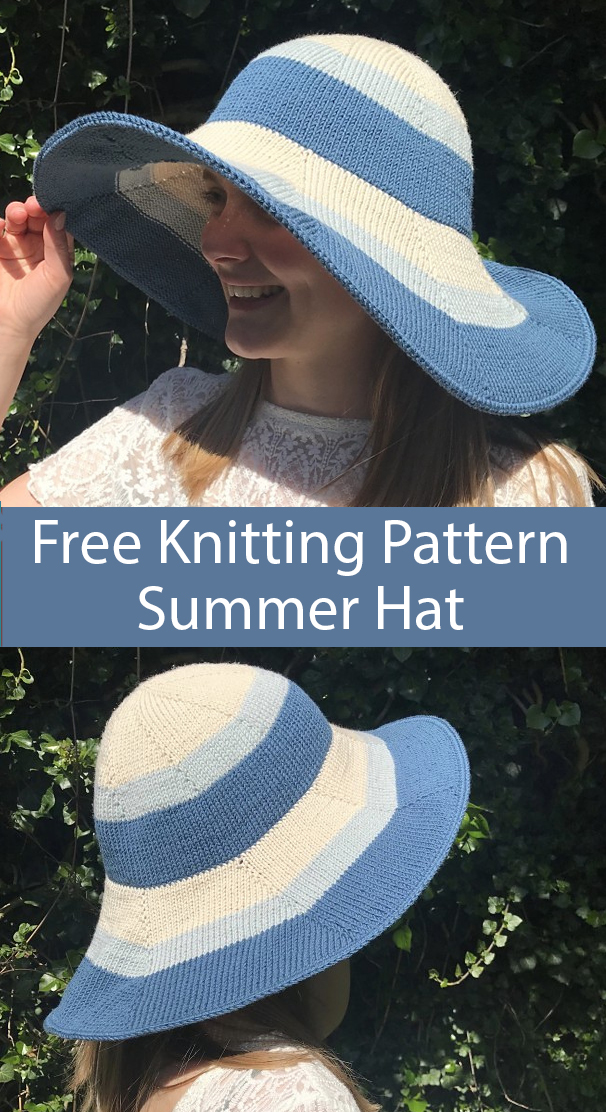 Free Knitting Pattern for Summer Hat