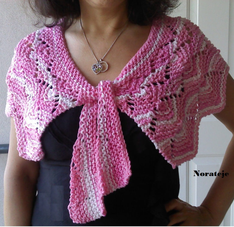 Knitting Pattern for Summer Parfait Capelet