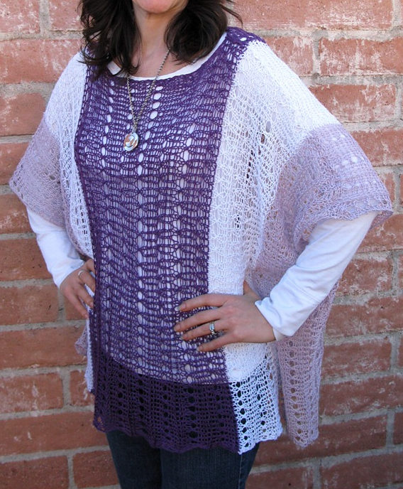 Free Knitting Pattern for Summer Poncho