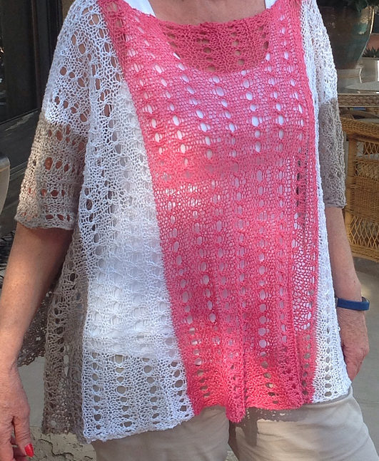 Free Knitting Pattern for Easy Summer Poncho