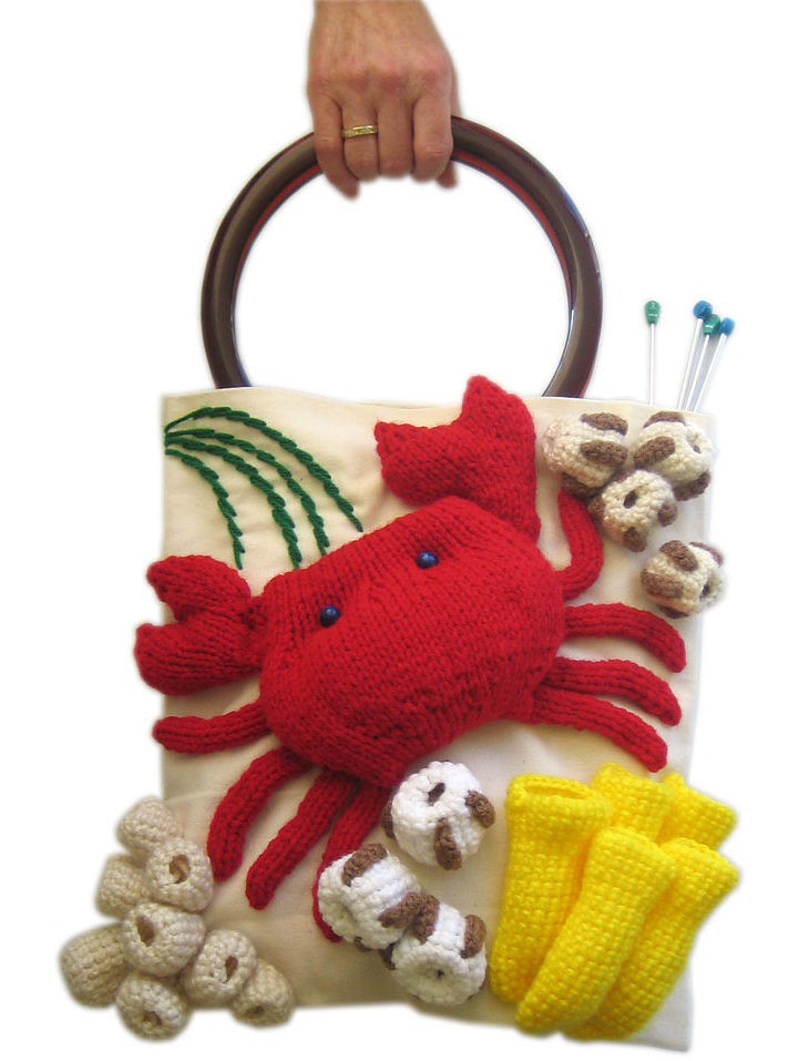 Free Knitting Pattern for Ocean Project Bag