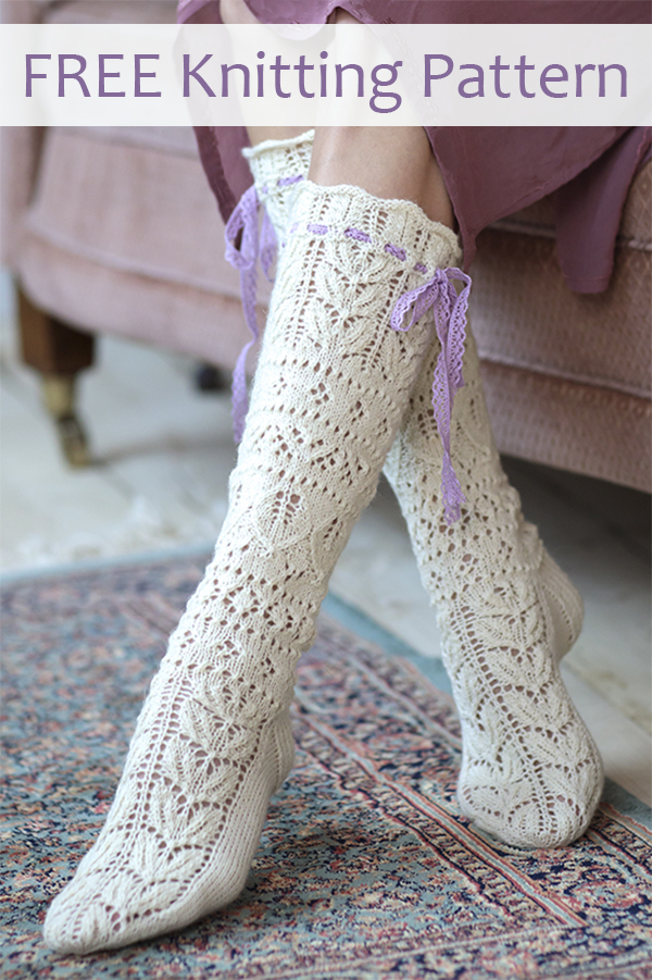 Free Knitting Pattern for Summerbride Lace Socks