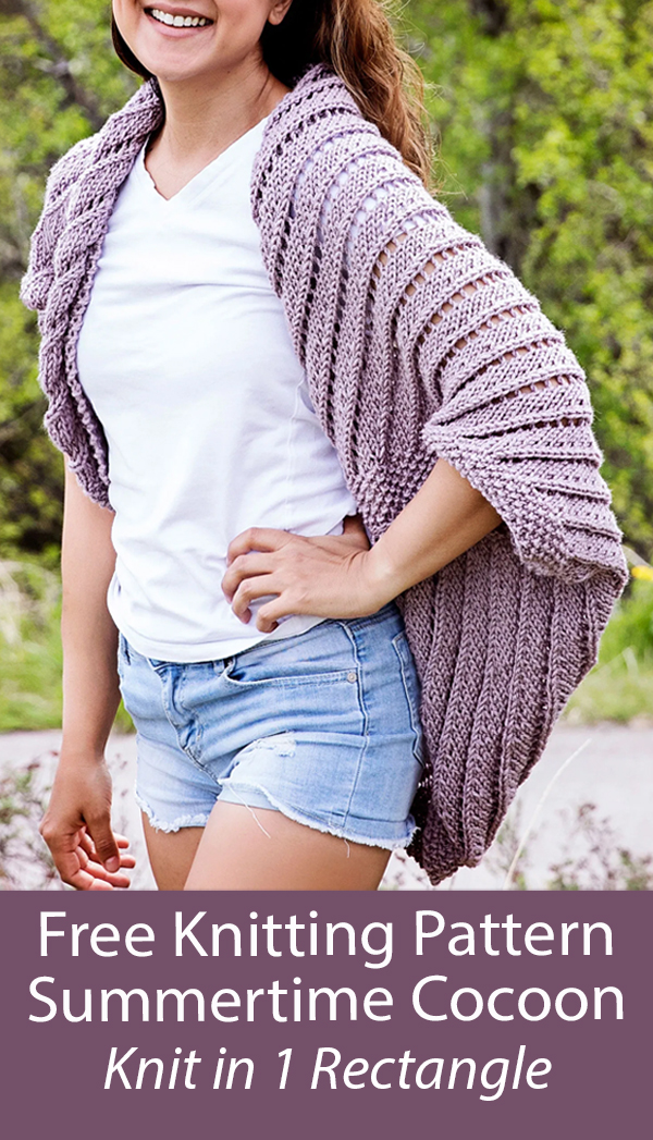 Free Knitting Pattern Summertime Cocoon Cardigan Sweater