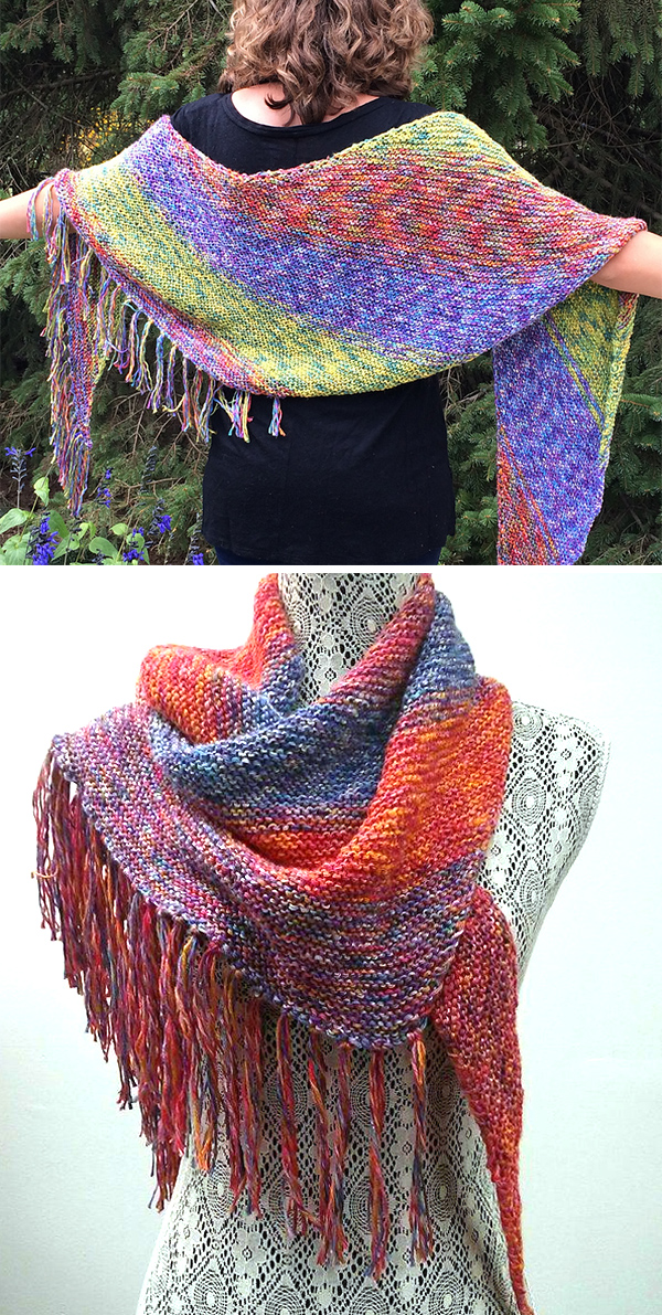 Free Knitting Pattern for Easy Summertime Shawl