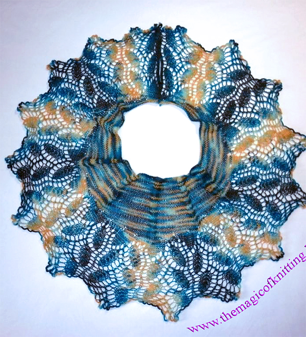 Sun in cold water shawl or wrap