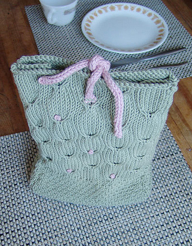 Free knitting pattern for Sundance Lunch Sack