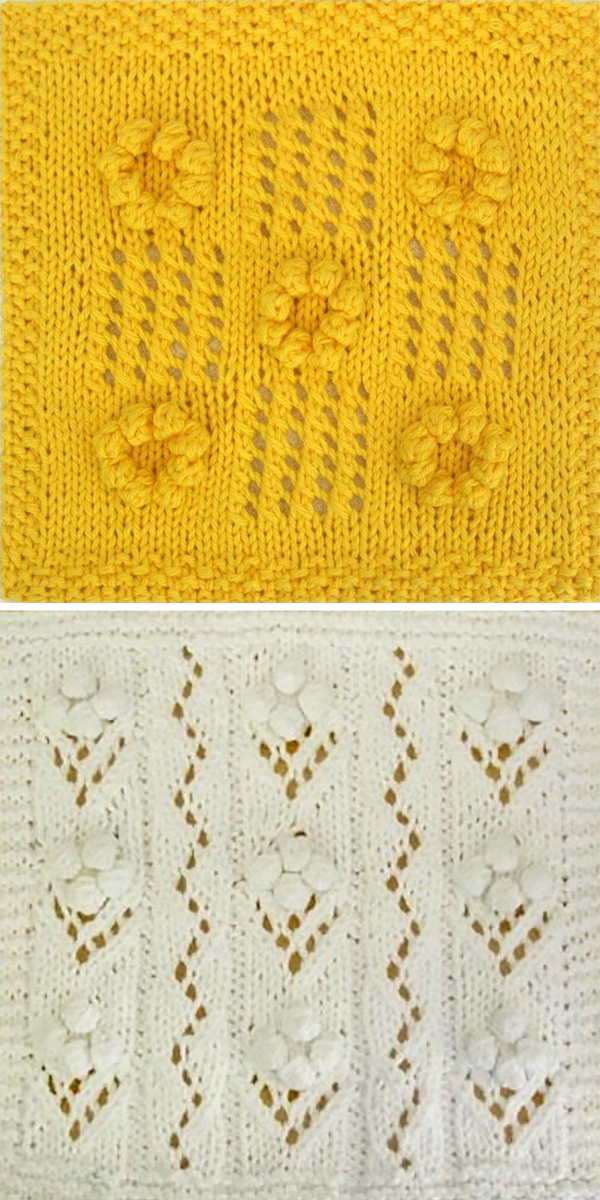 Knitting Patterns for Sunflowers and Bouquet Cloths