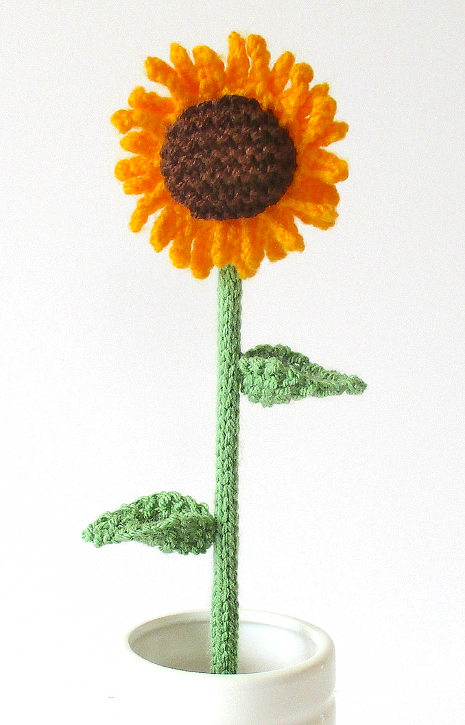 Free Knitting Pattern for Sunflower
