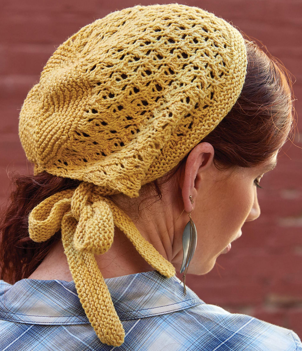 Knitting Pattern for Sunshine Lace Kerchief