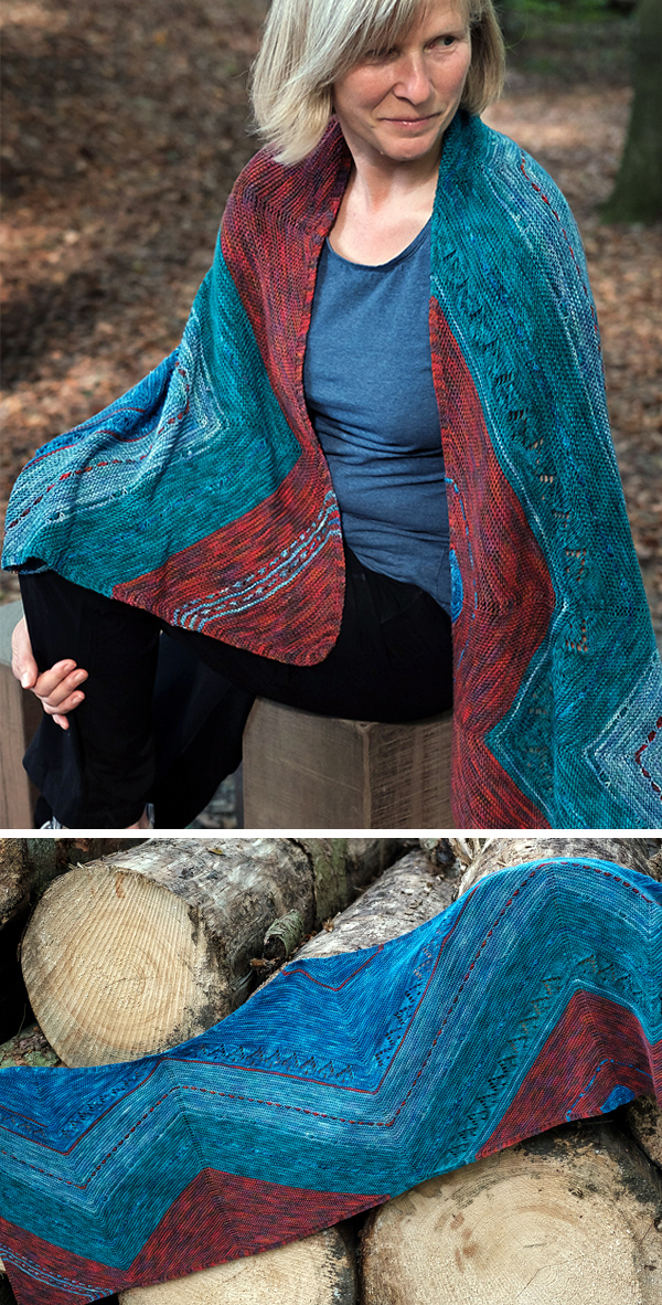Knitting Pattern for Super Asymmetry Wrap