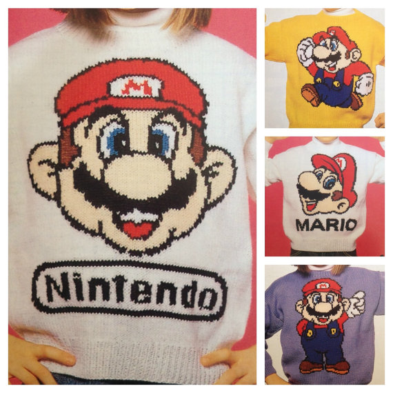 Knitting Patterns for Super Mario Sweaters