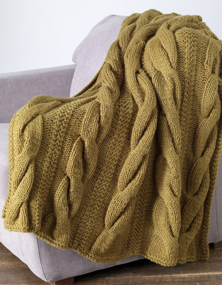 Free Knitting Pattern for Sutter's Mill Throw