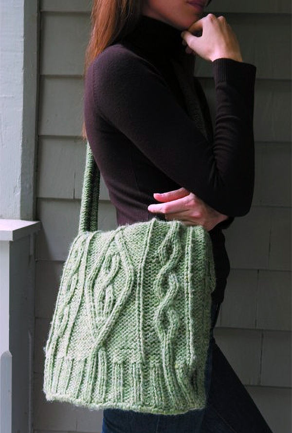 Free Knitting Pattern for Sweater Bag