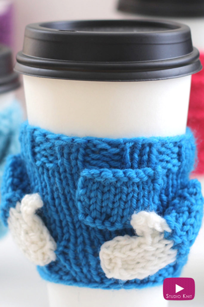 Free Knitting Pattern for Sweater Mug Cozy