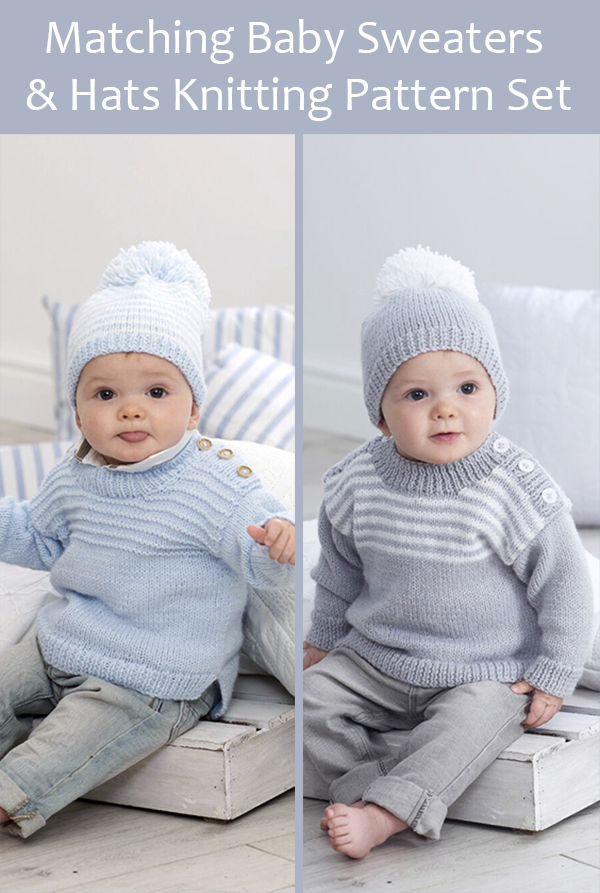 Knitting Pattern for Matching Easy-On Sweaters and Hats