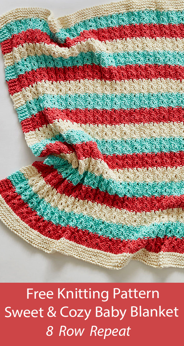 Free Baby Blanket Knitting Pattern Sweet and Cozy Baby Blanket