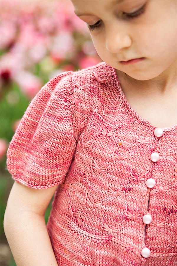 Knitting Pattern for Sweet Butterfly Baby or Child Cardigan