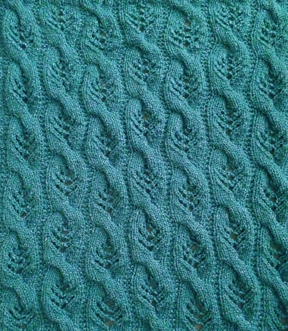Free Knitting Pattern for Sweet Cables Baby Blanket