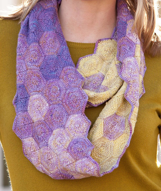 Knitting Pattern for Sweet Hexagon Cowl