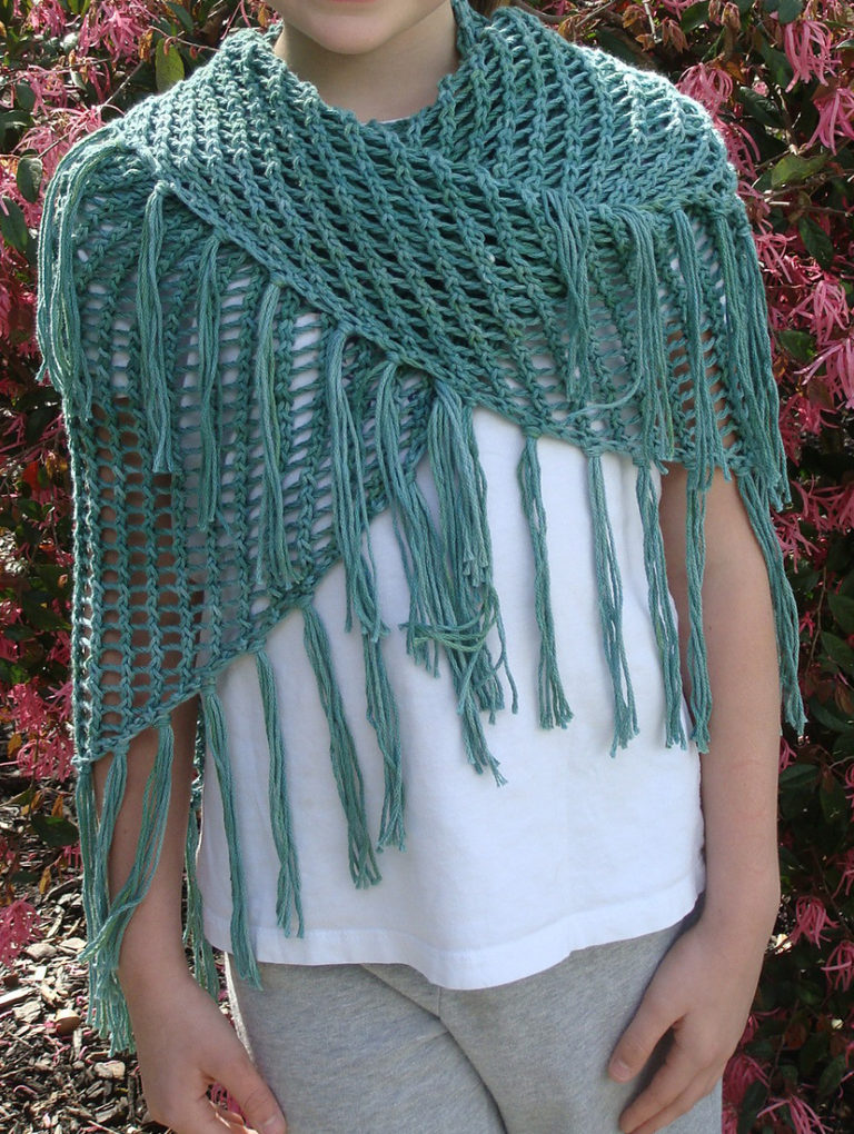 Free Knitting Pattern for Sweet November Shawl