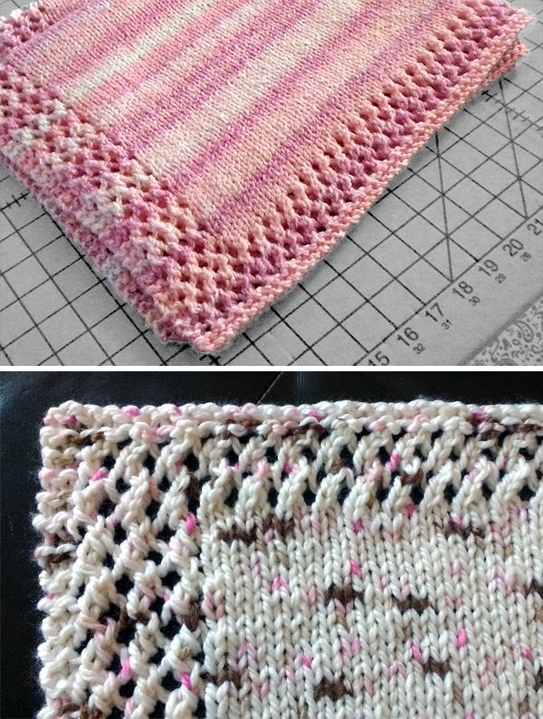 Free Knitting Pattern for Easy Sweet Phoebe Baby Blanket