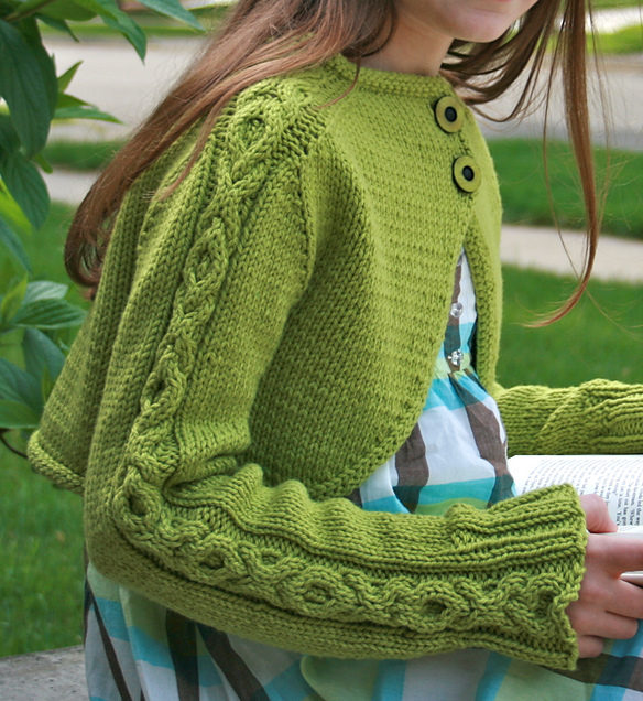Free Knitting Pattern for Sweet Reflections Shrug