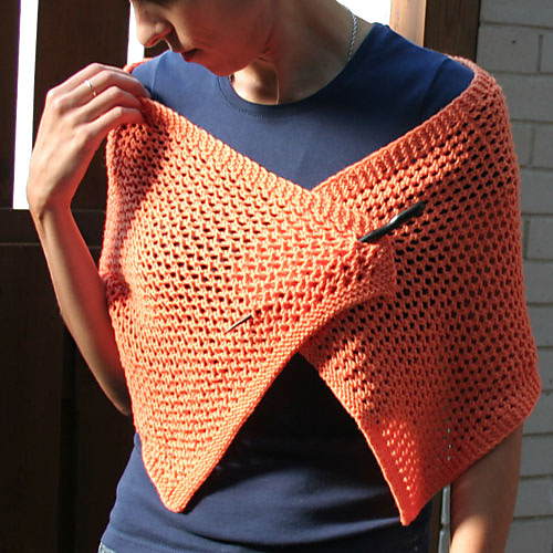 Free knitting pattern for Sweet Stole shawl wrap