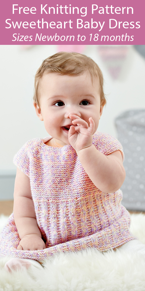 Free Knitting Pattern for Sweetheart Baby Dress