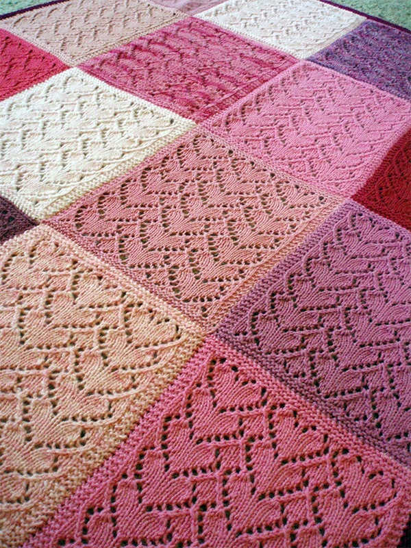 Free Knitting Pattern for Sweethearts Baby Blanket