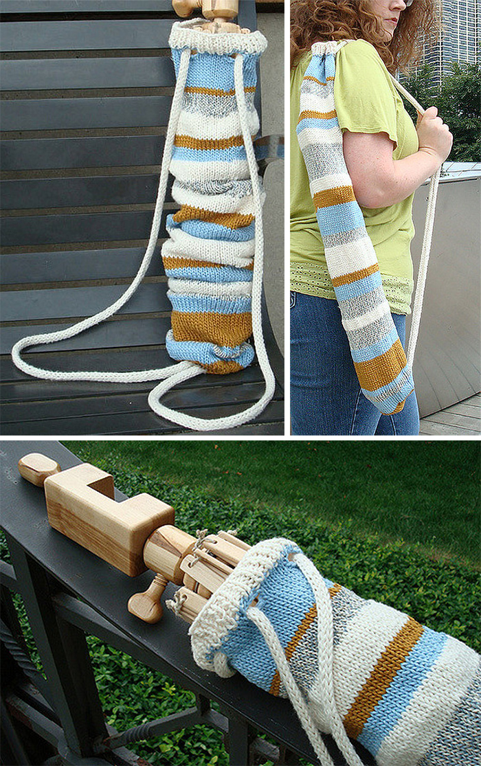 Free Knitting Pattern for Yarn Swift Bag