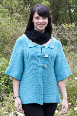 Swing Coat Free Knitting Pattern and more free coat and knitting patterns at http://intheloopknitting.com/jacket-and-coat-knitting-patterns/