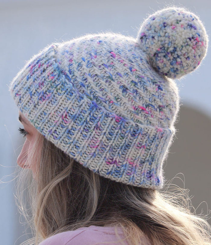 Free Knitting Pattern for Swirled Sprinkles Hat