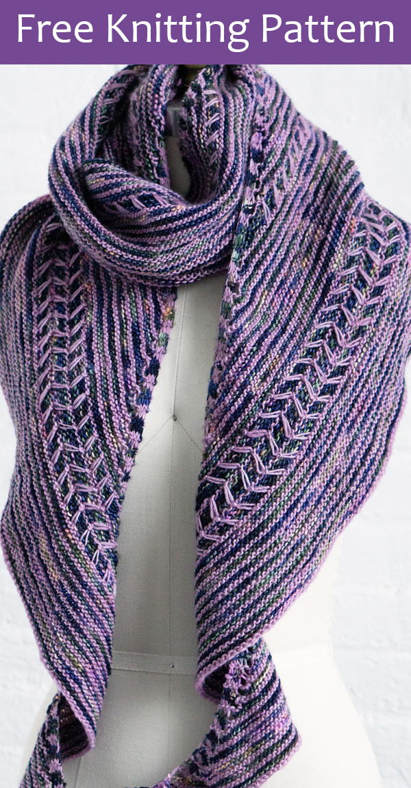 Free Knitting Pattern for Syringa Shawl