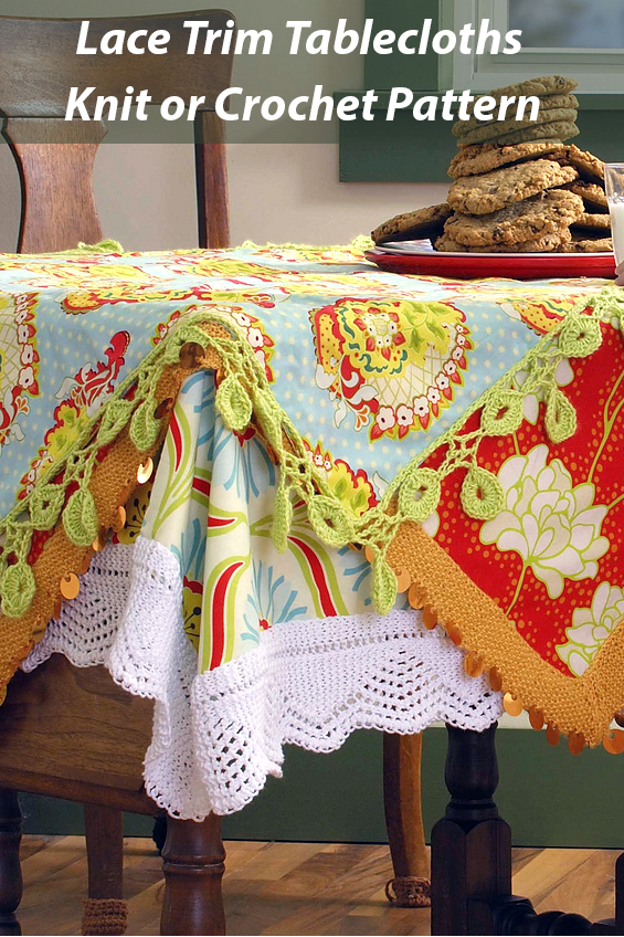 Pattern for 3 Lace Trim Tablecloths